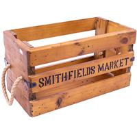 Rustic Timber Storage Box - Smithfields Market