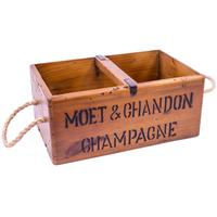 Rustic Timber Storage Box - Moet & Chandon
