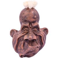 Wall Mounted Ornamental Pottery Face - Lopsided Grin