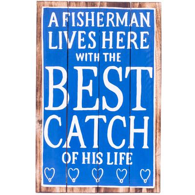 Wall Art Timber Sign - Best Catch