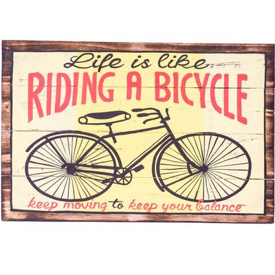 Wall Art Timber Sign - Life is a Bike
