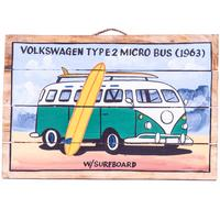 Wall Art Timber Sign - Volkswagon