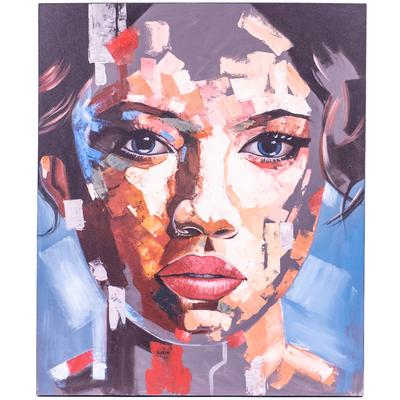 Canvas Painting - Geometric Face