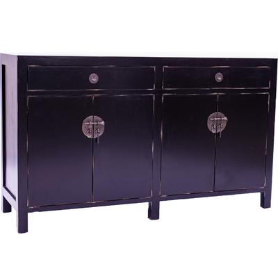Black Mahogany Oriental Sideboard - 4 Door