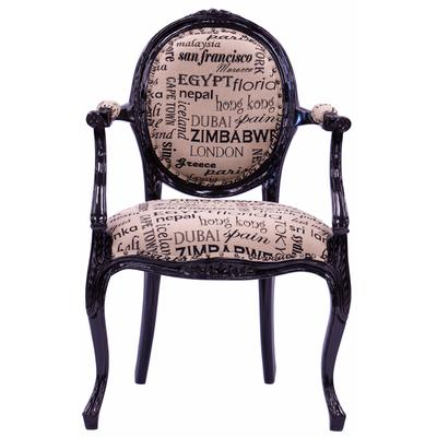 Oval Back Accent Chair - Cities of the World