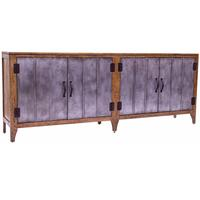 Antique Iron Tin Man 4 Door Sideboard
