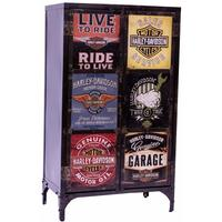 Industrial Steel Cupboard - Harley Davidson Themed