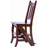 Teak Library Chair / Step Ladder
