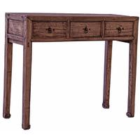 Exposed Timber Grain 3 Drawer Console/Hall Table