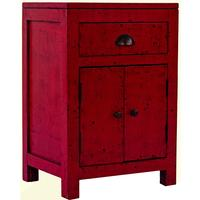 Oriental Bedside Cabinet - Fire Engine Red