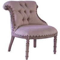 Tufted Accent Chair - Cream Linen