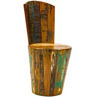Barrel Style Boatwood Chair
