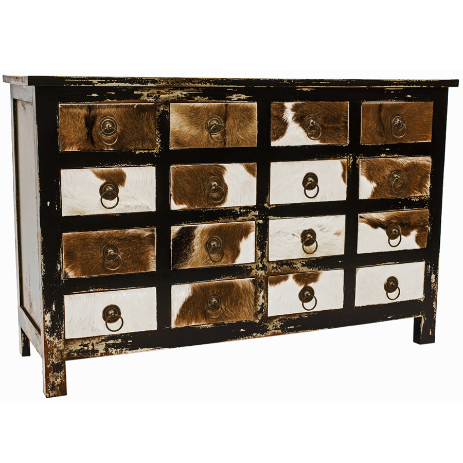 Cow Hide Multi Drawer Storage Unit  sc 1 st  Java Furniture & JAVA  Make a statement with the Cow Hide Multi Drawer Storage Unit ...