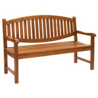 Curved Back Outdoor Bench Seat in Teak