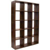 Large Modular Bookcase - 15 hole in Rustic Teak