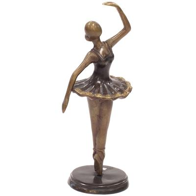 Abstract Bronze Ballerina Statue - Pirouette