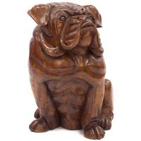 Hand Carved Timber Bulldog