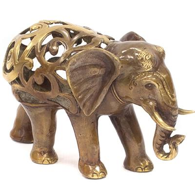 Bronze Elephant - Decorative Filigree
