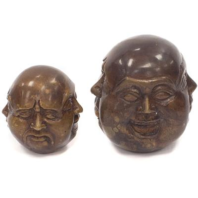4 Faced Bronze Buddha - decorative ornament
