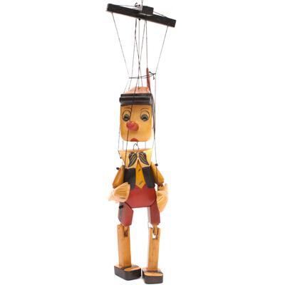 Wooden Pinocchio Marionette Puppet