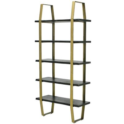 Evolution Iron Brown and Gold Frame Bookcase