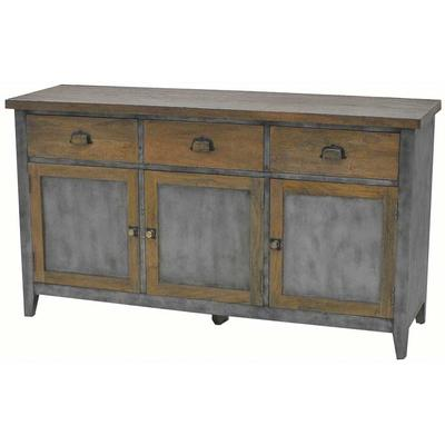 Antique Iron & Timber Sideboard - 3dr x 3dw