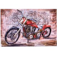 3D Metal Wall Art - Motorbike