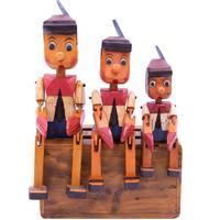 Painted Wooden Ornamental Pinocchio